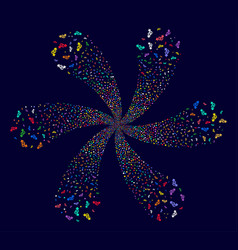 Heterosexual symbol swirl burst vector