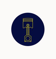 icon of the automotive piston graphics vector image
