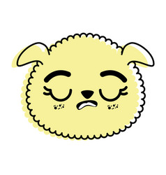Isolated cute sheep face vector