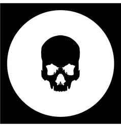 Isolated human skull bones black icon eps10 vector
