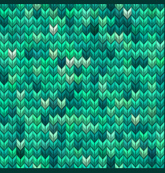 Light and dark green knit seamless pattern eps 10 vector
