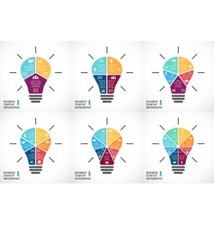 light bulb infographics set Template for vector image