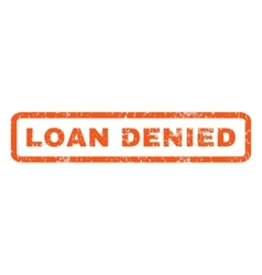 Loan Denied Rubber Stamp vector image