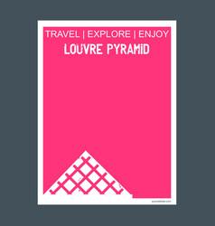 louvre pyramid paris france monument landmark vector image
