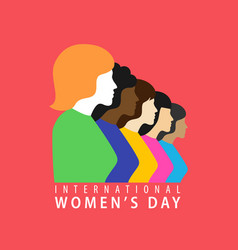 march 8 happy international women day vector image