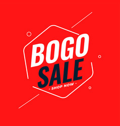 Modern bogo buy one get one sale background design vector
