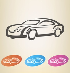 modern car outlined symbol vector image