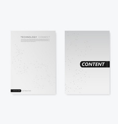 Modern templates for brochure cover vector