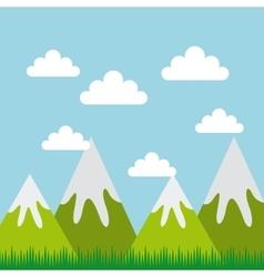 Mountains landscape design vector