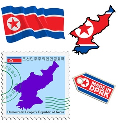 national colours of North Korea vector image