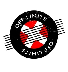 Off Limits rubber stamp vector