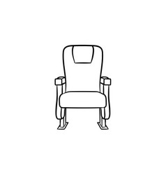 office seat hand drawn sketch icon vector image
