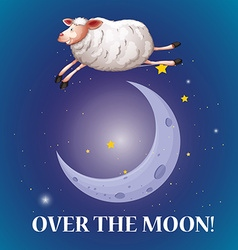 Old saying over the moon vector image