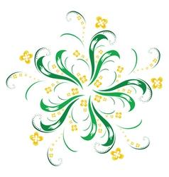 ornamental flower vector image