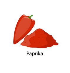 Paprika spice - in flat design vector