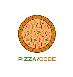 pizza code concept design template vector image