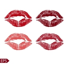 Print set of pink lips on a vector image