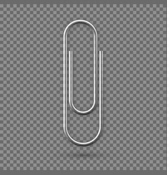 realistic paperclip icon paper clip attachment vector image