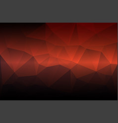 red orange purple low poly background vector image