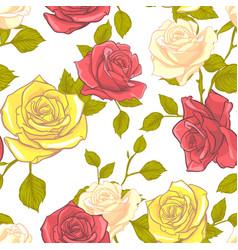rose seamless pattern flower seamless pattern vector image