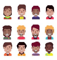 set 12 avatar icons 08 vector image
