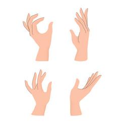 set hands gestures with trendy grain textured vector image