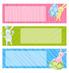 Set of Easter banners vector image