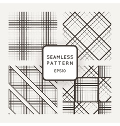 set of seamless geometric patterns of lines vector image