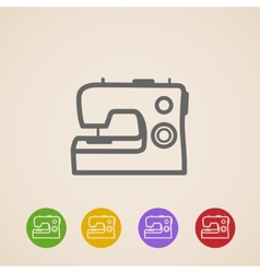 Sewing machine icons vector