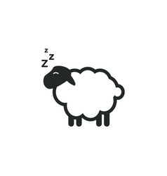 sheep sleep graphic design template vector image