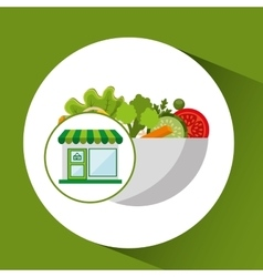 Store fresh vegetables organic vector