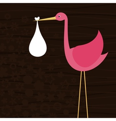 stork bears child vector image