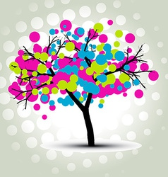 stylish tree vector image
