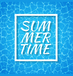 summer time blue water background seamless blue vector image