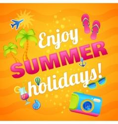 Summer Vacation Poster vector