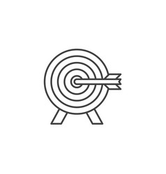 target related line icon vector image