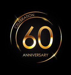 Template 60 years anniversary vector