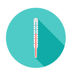 thermometer circle icon vector image