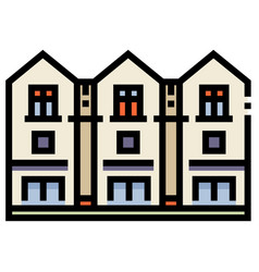 Townhouse linecolor vector