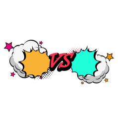 versus letters fight backgrounds comics style desi vector image