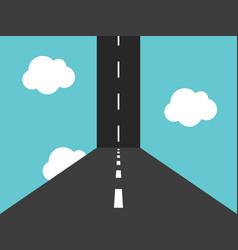 vertical road in sky vector image
