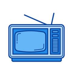 vintage tv line icon vector image