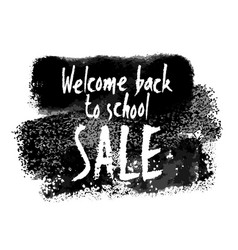 welcome back to school sale banner vector image