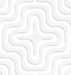 White 3D wavy cross vector image