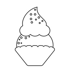 Women day cupcake dessert sweet thin line vector