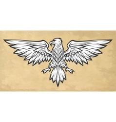Eagle mascot spread wings Vintage style vector image vector image