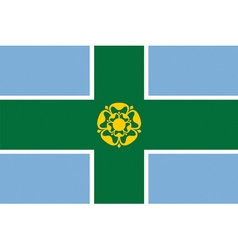 Flag of Derbyshire vector image vector image