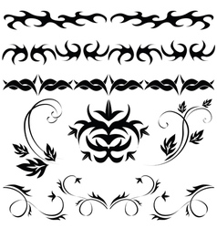 gothic patterns and ornaments vector image vector image