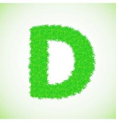 grass letter D vector image