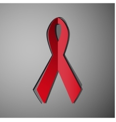 red ribbon AIDS symbol vector image